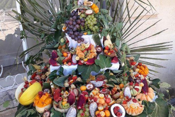 Cascade de fruits, traiteur à Bordeaux