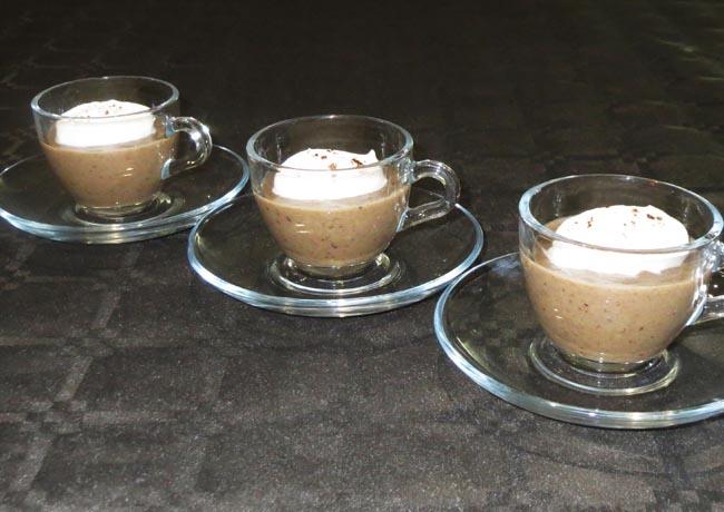 Cappuccino de cèpes, traiteur à Bordeaux